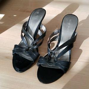 NINE WEST Black Slip On High Heels